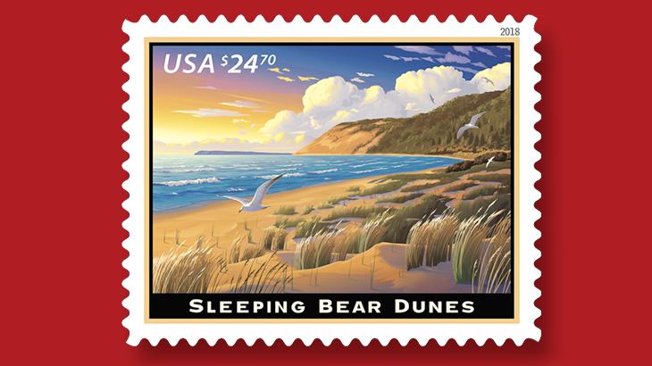 sleeping-bear-dunes-priority-mail-express-stamp