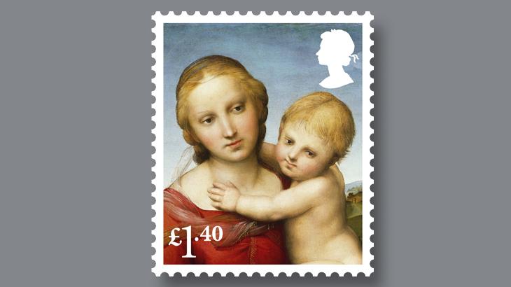 small-cowper-madonna-raphael-stamp