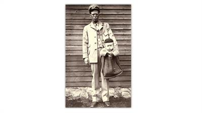 smithsonian-magazine-2006-photograph-letter-carrier-baby-mailbag