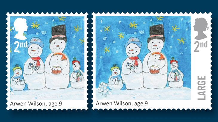 this is the fourth time that children have designed britains christmas stamps