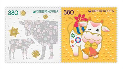 south-korea-new-year-ox-stamp