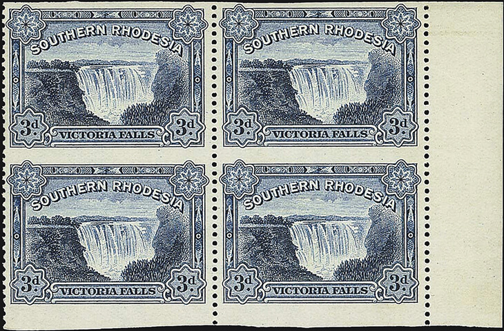 southern-rhodesia-three-penny-victoria-falls-stamp