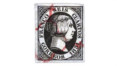 spain-1851-queen isabella-stamp