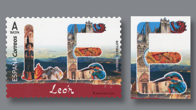 spain-cathedral-de-leon-stamp