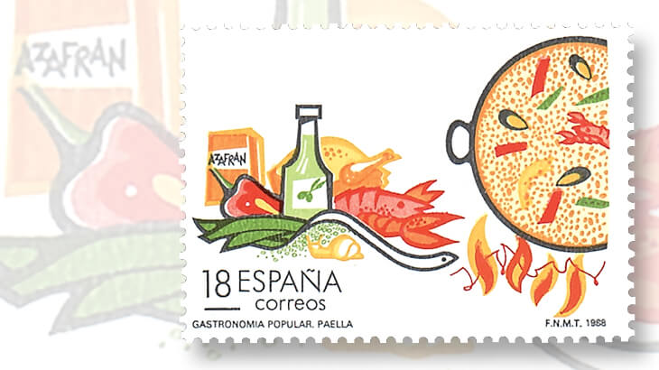 spain-tourism-snail-stamp