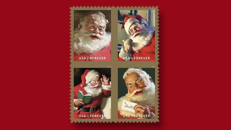 sparkling-holidays-four-santa-stamps