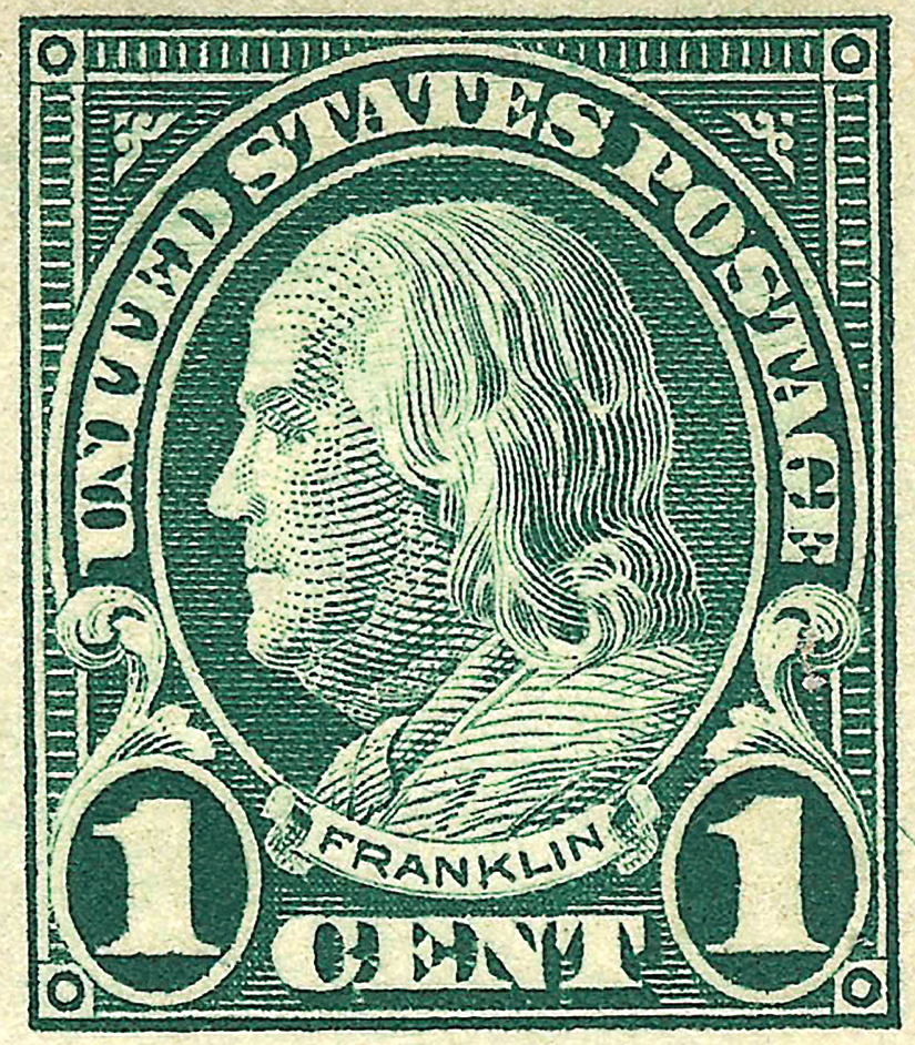 Is Your 1 Green Franklin Stamp Scott 594 Or 596 Linns