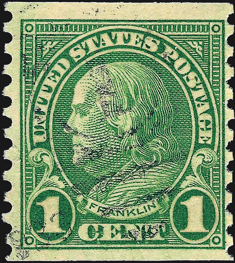 Is Your 1 162 Green Franklin Stamp Scott 594 Or 596 If It Is You Have A Winner