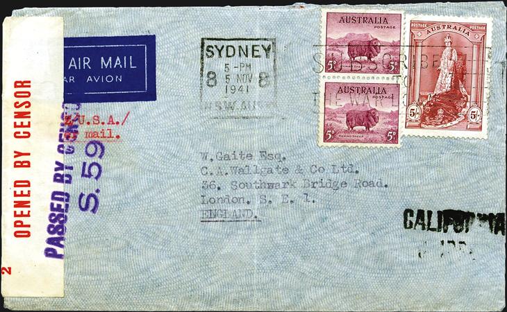 spotlight-airmail-pearl-harbor-australia-london-england-1941