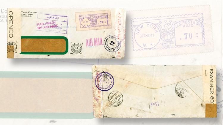 spotlight-airmail-pearl-harbor-cover-new-york-iran-irag-trinidad-egypt-1941