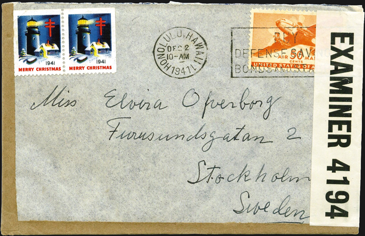 spotlight-airmail-pearl-harbor-hawaii-sweden-1941