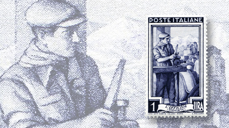 spotlight-on-philately-italy-at-work-series-1-lira-stamp