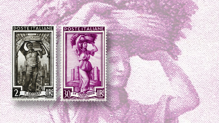 spotlight-on-philately-italy-at-work-series-fred-baumann-favorites