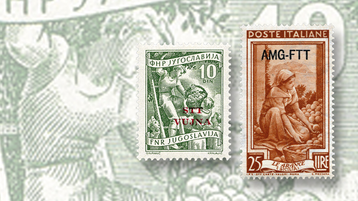 spotlight-on-philately-italy-at-work-series-overprints-yugoslavia-amg-trieste-zone