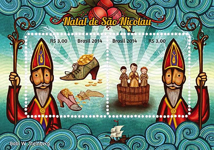 st-gabriel-award-2015-brazil-souvenir-sheet-santa-claus