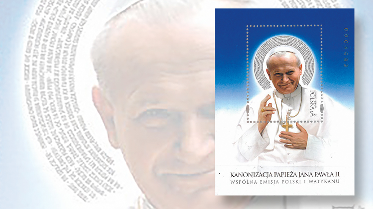 st-gabriel-award-2015-poland-souvenir-sheet-pope-john-paul-ii