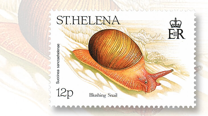 st-helena-1995-blushing-snail-stamp