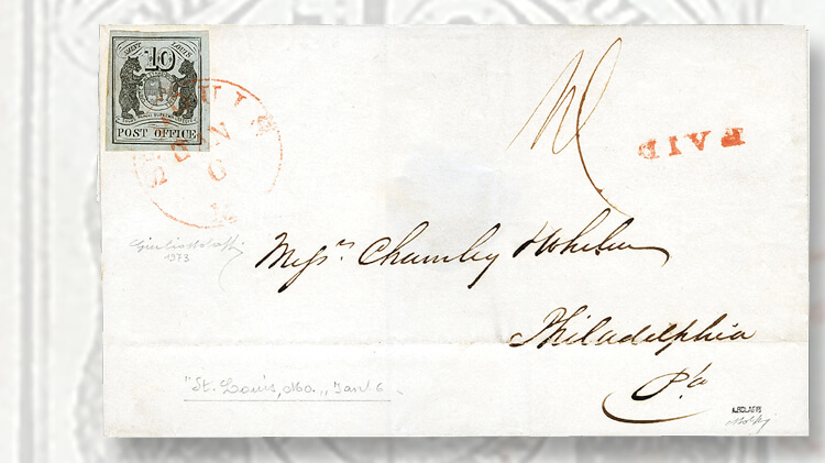 st-louis-bears-cover-with-ten-cent-postmasters-provisional