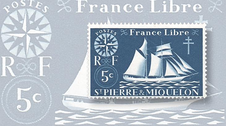 st-pierre-miquelon-1942-free-france-stamp