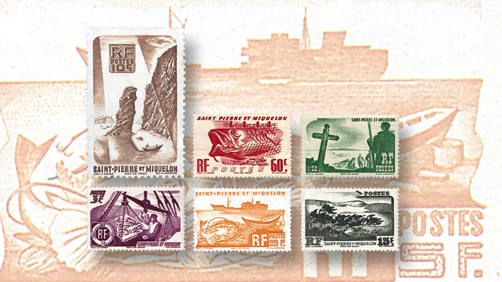 st-pierre-miquelon-1947-fishing-maritime-stamps