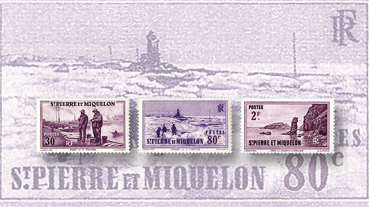 st-pierre-miquelon-port-tortue-lighthouse-stamps