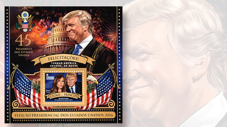 World stamps pay tribute to Donald Trump as president ...