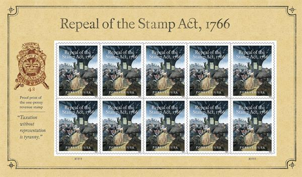 stamp-act-repeal-pane-of-10