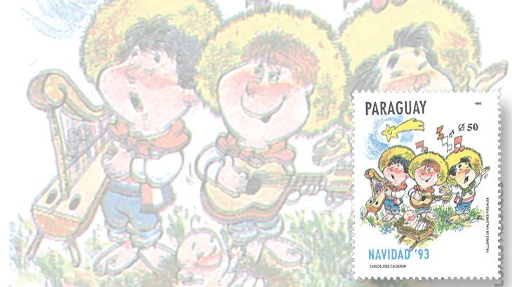 stamp-collecting-basics-christmas-1993-paraguay-carols