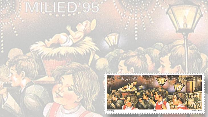 stamp-collecting-basics-christmas-1995-malta-children