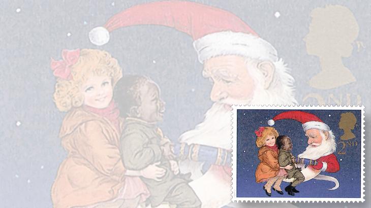 stamp-collecting-basics-christmas-1997-great-britain-santa-claus-moon