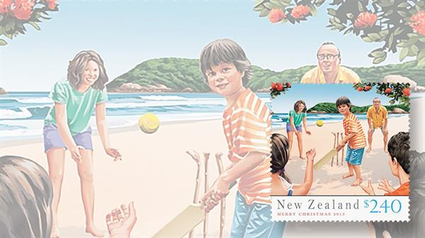 stamp-collecting-basics-christmas-2013-new-zealand-beach-cricket