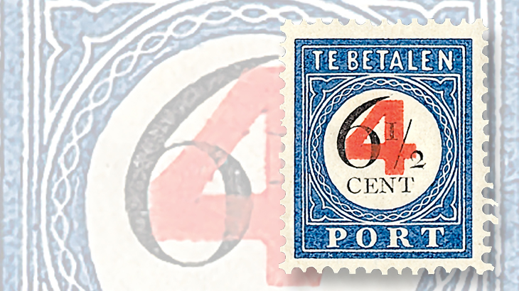 stamp-collecting-basics-netherlands-postage-due-surcharged-stamp