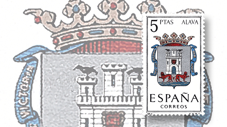 stamp-collecting-basics-spain-1962-coats-of-arms-alava-basque-country