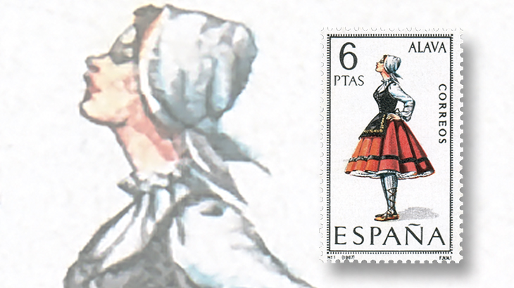 stamp-collecting-basics-spain-1967-costumes-alava-province