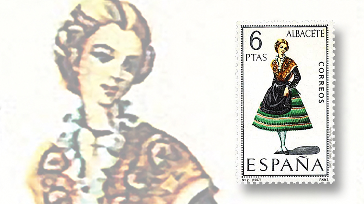 stamp-collecting-basics-spain-1967-costumes-albacete-murcia