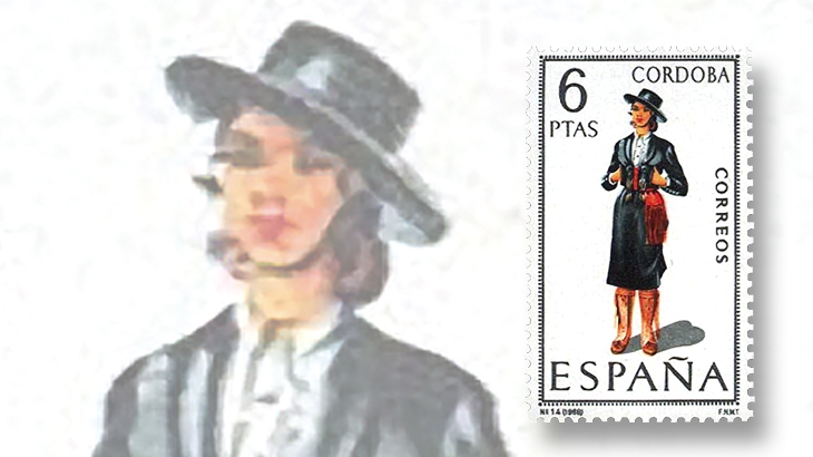 stamp-collecting-basics-spain-1968-costumes-cordoba-province