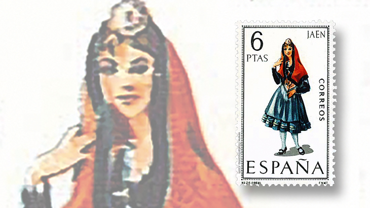 stamp-collecting-basics-spain-1969-costumes-jaen-province