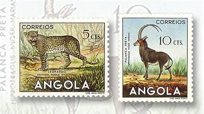 stamp-market-tips-angola-1953-african-wildlife-set