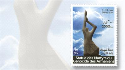 stamp-market-tips-lebanon-2014-armenian-genocide-monument