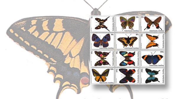 stamp-market-tips-netherlands-antilles-2003-butterfly-block-scott-1005