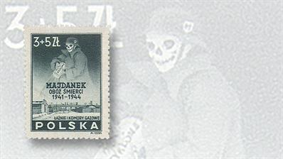 stamp-market-tips-poland-1946-majdanek-prison-camp-semipostal
