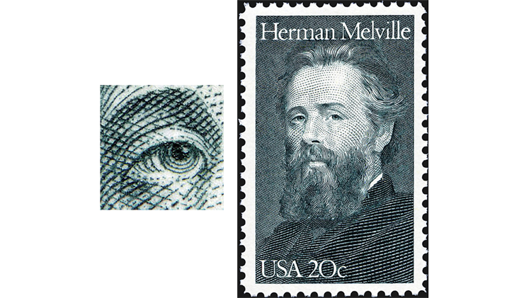 stamp-printing-united-states-herman-melville-stamp-literary-arts
