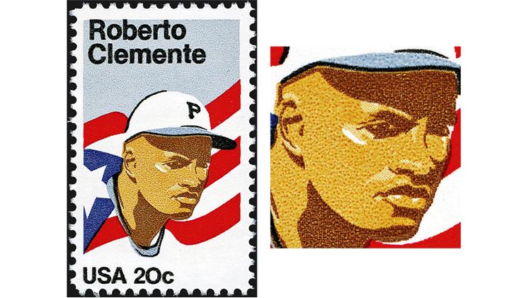 stamp-printing-united-states-roberto-clemente-stamp-photogravure