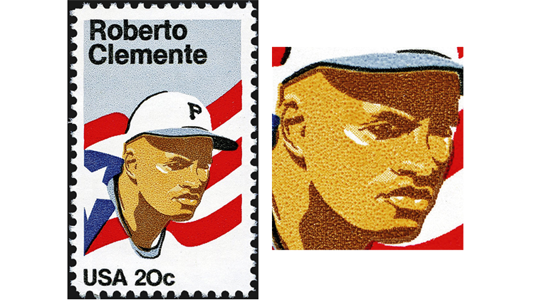 stamp-printing-united-states-roberto-clemente-stamp-photogravure