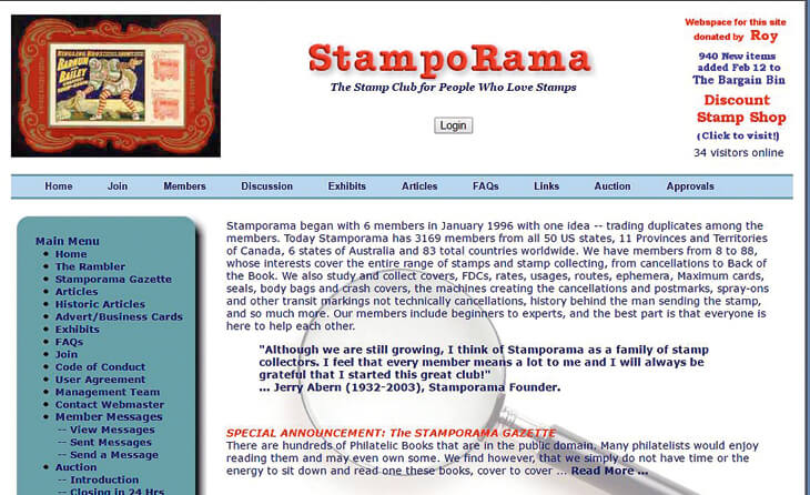 stamporama-webpage