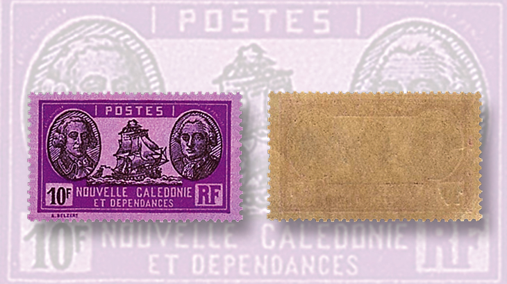 stamps-colored-paper-new-caledonia-perforations