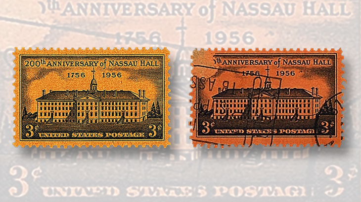 stamps-colored-paper-united-states-nassau-hall-princeton