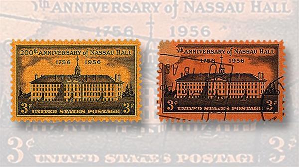 stamps-colored-paper-united-states-nassau-hall-princeton