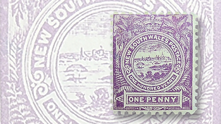 stamps-down-under-new-south-wales-centenary-sydney-view