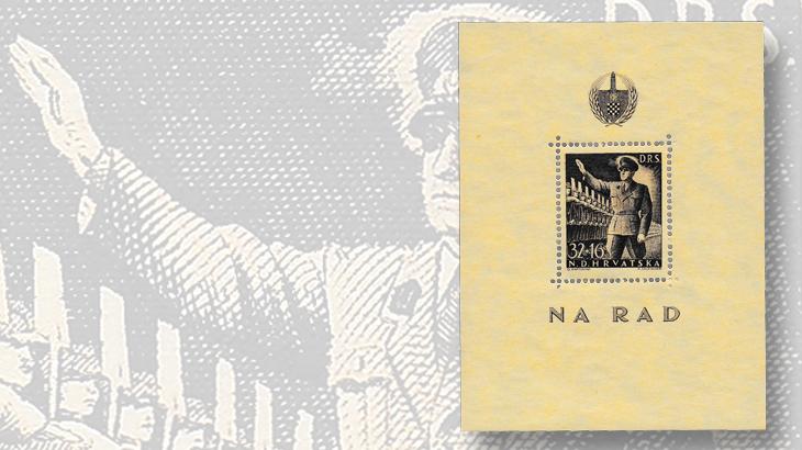 stamps-eastern-europe-croatia-semipostal-souvenir-sheet